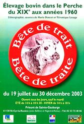 Bête de trait, Bête de traite, L'élevage Bovin dans le Perche du XIXe siècle à 1960